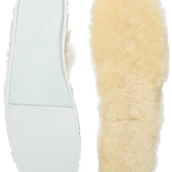 Fityou Women's Genuine Sheepskin Insole Cozy Warm Fluffy Shoe Insoles for Wellies Slippers Boots with Latex...