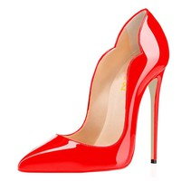 FSJ Women Classic Pointed Toe High Heels Sexy Stiletto Pumps Office Lady Dress Shoes Size 4-15 US