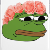 Flower Crown Pepe Frog by Alex Penfold