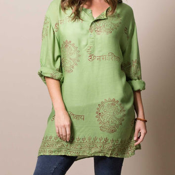 Oversized Mantra Tunic
