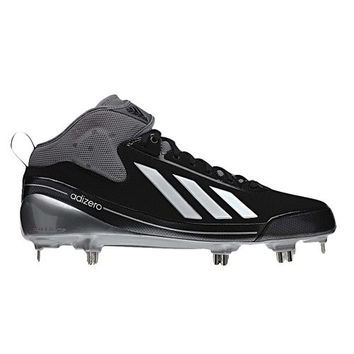 Adidas Men's Adizero 5Tool 2.5 Low Metal Baseball Cleats, Black/Silver, 13