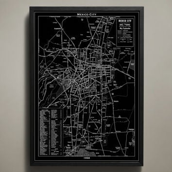 Map Print, MEXICO CITY