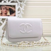 Chanel Women Fashion Leather Satchel Shoulder Bag Crossbody