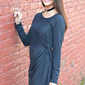 Social Hour Black Dress
