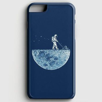 Astronaut Mowing The Moon iPhone 8 Case