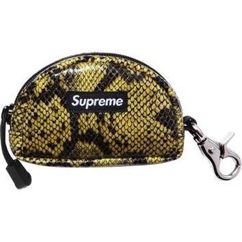 Supreme Snakeskin Pouch - Yellow