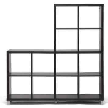 Baxton Studio Sunna Dark Brown Modern Cube Shelving Unit Set of 1