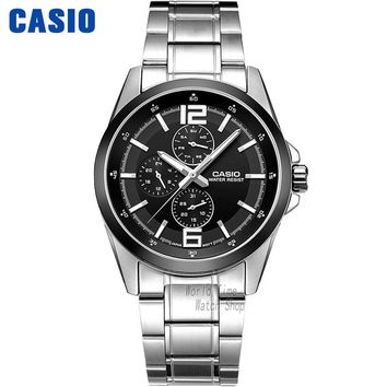 Casio watch Fashion leisure three watches quartz male watch MTP-E306D-1A MTP-E306D-5A MTP-E307D-1A MTP-E308D-7A MTP-E308L-1A