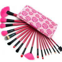 18 Piece Rose Professional Brush Set