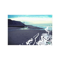Glitch Beach in Mundesley, UK by Alexandra Cook Canvas Print