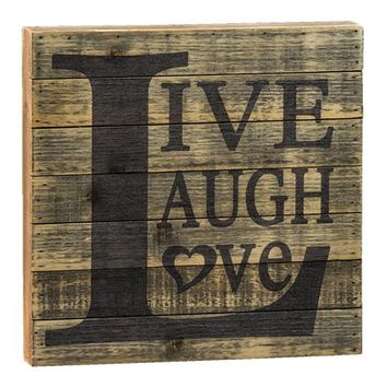 Live, Laugh, Love Slat Sign - *FREE SHIPPING*