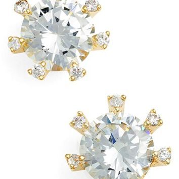 CZ by Kenneth Jay Lane Embellished Prong Cubic Zirconia Stud Earrings | Nordstrom