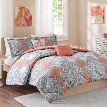 Shop Coral Comforter Set On Wanelo
