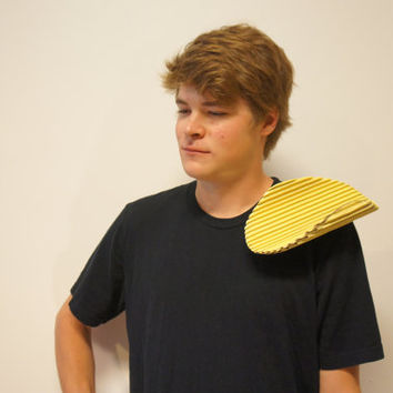 Chip on your Shoulder - Funny Pun Adult Halloween Costume perfect Women's Men's unique creative Haloween Costume Easy, simple fits all sizes