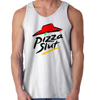 Pizza Slut New For Mens Tank Top Fast Shipping For USA special christmas ***