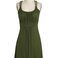 Richly Royal Dress in Olive | ModCloth.com