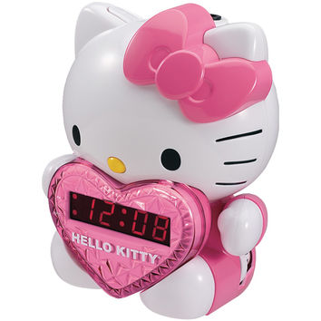 Hello Kitty Am And Fm Projection Clock Radio