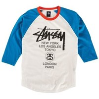 Stussy Baseball WT Raglan - Men's at CCS