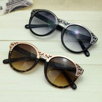 Cute Cat Eye Sunglasses with Cut Out Frame PQ463