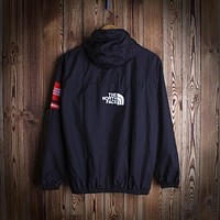 """THE NORTH FACE""Couple Unisex Print Zip Hooded Cardigan Jacket Sweatshirt Windbreaker"