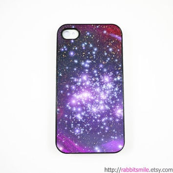 iPhone 5 Case, iPhone 4 case, iPhone 4s Cover , Hard Plastic iphone 5 Cover, cases -- Nebula Galaxy Space