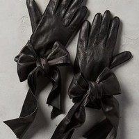Streaming Bow Leather Gloves