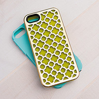 Tech Candy Metal Effects Barcelona Case Set for iPhone 5/5S - Green Ap