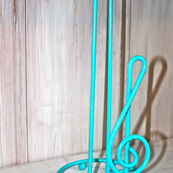 Aqua Blue Metal Paper towel Holder /Aqua /Distressed Hand by AquaXpressions
