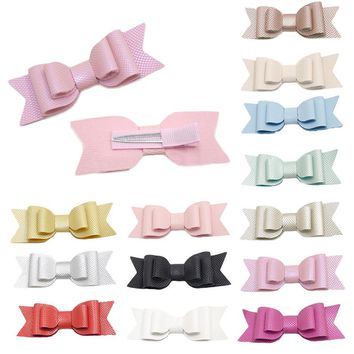 HairBands For Boys Girls Hot Sale KLV Kids Headband Cute Baby Girl Toddler Infant Kids Leather Bow Hairpin Hair Clip Accessories