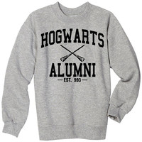 hogwarts alumni hoodie hogwarts alumni black and gray