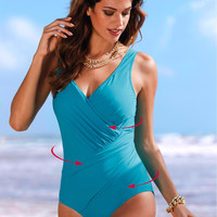 One Piece Blue Women Swimsuit Swimwear for Women