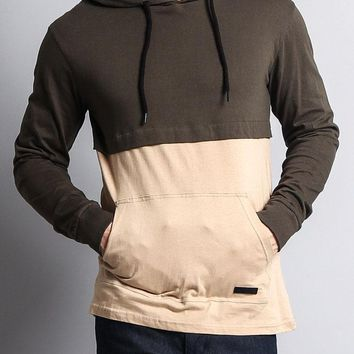 Long Sleeve Color Block Hooded Tee 17391-1094 - FF8G
