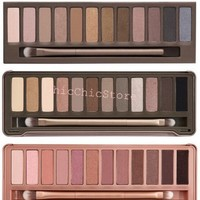ChicChic Store New Hot Sale 3pcs/lot Nake Brand Makeup Set Nk1, Nk2 , Nk 3 12color Eyeshadow Palette Eye Shadow