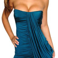 Magnify (Teal)-Great Glam is the web's top online shop for trendy clubbin styles, fashionable party dress and bar wear, super hot clubbing clothing, stylish going out shirt, partying clothes, super cute and sexy club fashions, halter and tube tops, belly