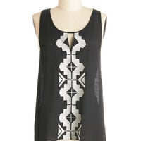 ModCloth Boho Mid-length Sleeveless Indie Mystique Top