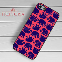 Lily Pulitzer Elephant Pattern-1nna for iPhone 6S case, iPhone 5s case, iPhone 6 case, iPhone 4S, Samsung S6 Edge