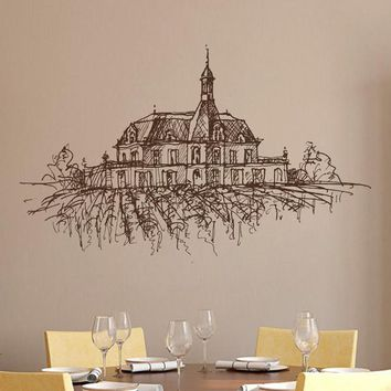 ik2390 Wall Decal Sticker old winery French Italian restaurant kitchen