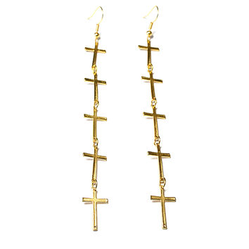 Long Cross Earring