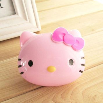 1PC Cartoon Hello Kitty  Glasses Double Contact Lenses Box Contact Lens Case For Eyes Care Kit Holder Container Gift  6C