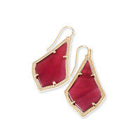 Alex Gold Drop Earrings in Burgundy| Kendra Scott Jewelry