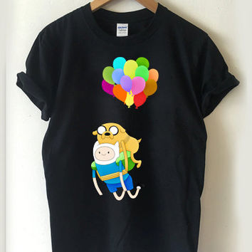adventure time finn and jake ballons T-shirt Men, Women and Youth