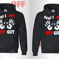Hands Off My Guy Hands Off My Girl Hoodie Hoodies Matching Hoodie Matching Hoodies Couple Hoodie Couple Hoodies Relationship  Valentines Day