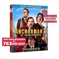 Anchorman 2 - Exclusive Talking Package(Includes Digital Copy)(Blu-ray/DVD) - Only at Target