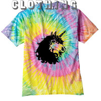 UNICORN shirt  Tie dye shirt  unisex groovy chill out men women teen rainbow 90S grunge
