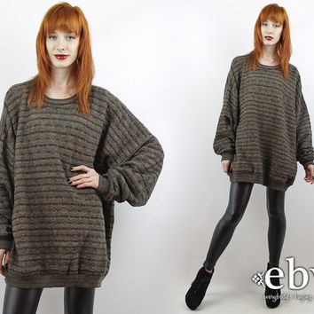 7ae50173aba Vintage 90s Striped Oversized Sweater 3X 4X Plus Size Sweater Oversized Knit  Oversized Jumper Plus Size. everybodysbuyingvintage. everybodysbuyingvintage