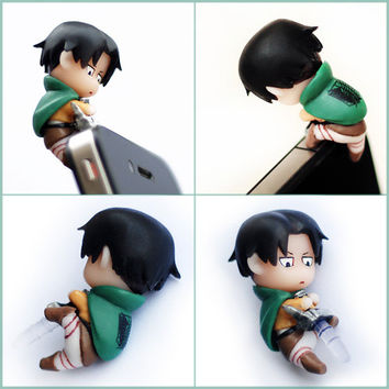 Attack on Titan earphone jack dust plug - Levi