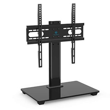 Universal TV Stand - Table Top TV Stand for 37-55 inch LCD LED TVs - Height Adjustable TV Base Stand with Tempered Glass Base & Wire Management, VESA 400x400mm: Kitchen & Dining