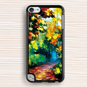 tree painting ipod case,forest painting ipod 4 case,oil painting ipod touch 5 case,gift ipod touch 4 case,painting ipod 5 cover