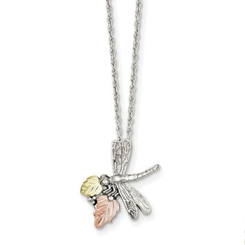Sterling Silver & 12K Dragonfly Necklace QBH126