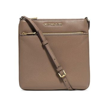 NWT Authentic Michael Kors Riley Small Flat Leather Crossbody Bag 32S5GRLC1L